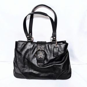 Coach Black Leather Baguette Like New